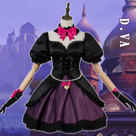 {Reservation} Normal Version Overwatch D.Va Cat Girl  Black Lolita Dress SP1812127