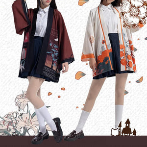 [Resevation] Bungo Stray Dogs Dazai Osamu/Nakahara Chuya Cosplay Haori Coat SP14026