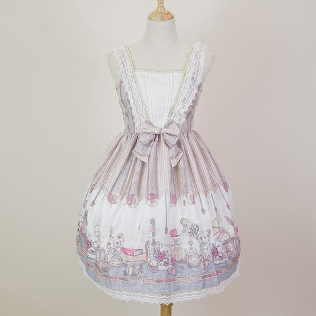 Retro Lolita Lace Bear Dress SP14273