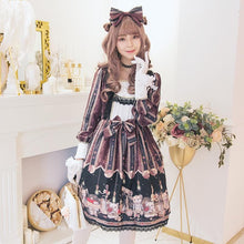 Load image into Gallery viewer, Retro Lolita Lace Bear Dress SP14273
