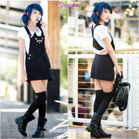 S-3XL Black Cutie Neko Kitty Cat Suspender Dress SP153320