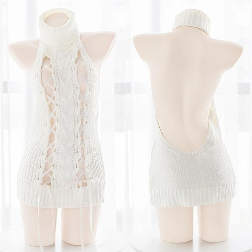 Ribbon Virgin Killer Sweater SP14894