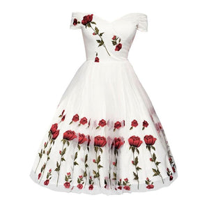 Rose Embroidery Dress SP13889