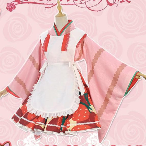 Rozen Maiden Hinaichigo Pink Strawberry Cosplay Kimonos SP1711356