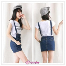 Load image into Gallery viewer, S-XL Denim Blue Suspender Skirt Overalls SP151948 Kawaii Aesthetic Fashion - SpreePicky