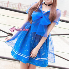 Load image into Gallery viewer, S-XL Dreamy Sailor Moon Organza Sailor Collar OP Dress Few Stock SP141133 - SpreePicky  - 3