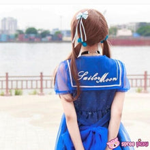 Load image into Gallery viewer, S-XL Dreamy Sailor Moon Organza Sailor Collar OP Dress Few Stock SP141133 - SpreePicky  - 4