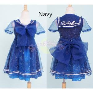 S-XL Dreamy Sailor Moon Organza Sailor Collar OP Dress Few Stock SP141133 - SpreePicky  - 2