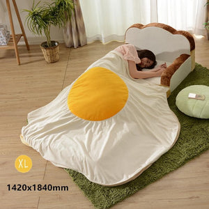 Kawaii Fired Egg Blanket S12836
