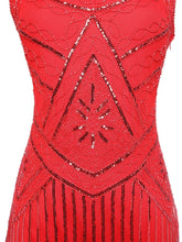 Load image into Gallery viewer, 1920s Sequin Fringed Flapper Dresses - SpreePicky FreeShipping