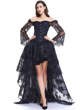 Load image into Gallery viewer, Halloween Gothic Steampunk Corset Skirt SP14298