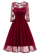 Load image into Gallery viewer, 1950s Mesh Patchwork Swing Dress - DelaFur Wholesale