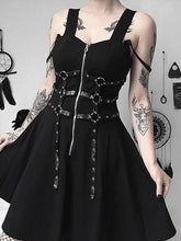 Load image into Gallery viewer, Halloween Steampunk Gothic A-line Dress SP14321