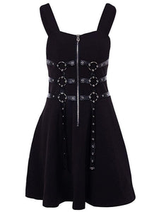 Halloween Steampunk Gothic A-line Dress SP14321