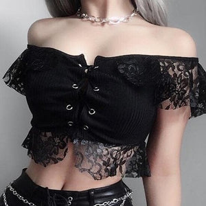 Halloween Steampunk Crop Tops