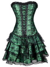 Load image into Gallery viewer, Halloween Steampunk Floral Corset Dress SP14605