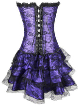 Load image into Gallery viewer, Halloween Steampunk Floral Corset Dress