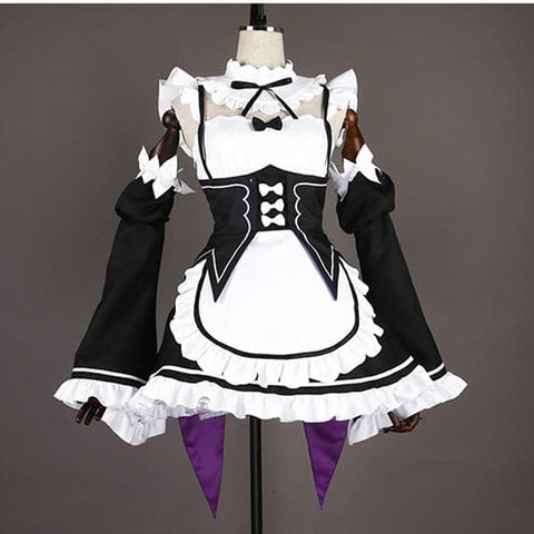 S/M/L Re:Zero -Starting Life in Another World- Rem Ram Cosplay Maid Costume SP168162