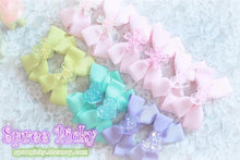 Load image into Gallery viewer, Pastel Cute Jelly Glitter Moon/Star/Heart/Sakura Bows Hair Clip SP130250 - SpreePicky  - 4