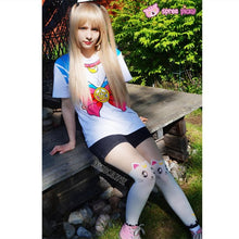 Load image into Gallery viewer, S-3XL [Sailor Moon] Short Sleeve Senshi Seifuku Printing Cotton T-Shirt SP140524 - SpreePicky  - 6