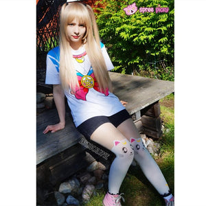S-3XL [Sailor Moon] Short Sleeve Senshi Seifuku Printing Cotton T-Shirt SP140524 - SpreePicky  - 6