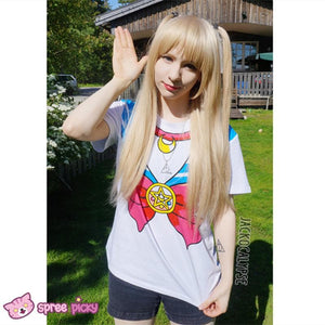 S-3XL [Sailor Moon] Short Sleeve Senshi Seifuku Printing Cotton T-Shirt SP140524 - SpreePicky  - 5