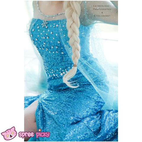 [Frozen] Queen Elsa Handmade Cosplay Long Gown SP140594 - SpreePicky  - 3