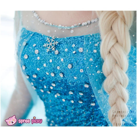 [Frozen] Queen Elsa Handmade Cosplay Long Gown SP140594 - SpreePicky  - 4