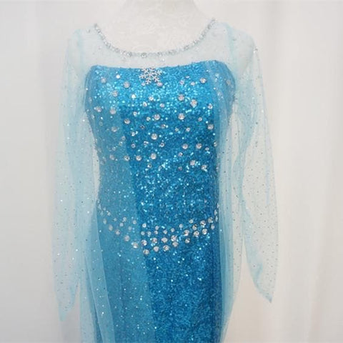 [Frozen] Queen Elsa Handmade Cosplay Long Gown SP140594 - SpreePicky  - 6