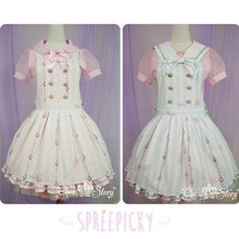 Load image into Gallery viewer, 【La robe de Cinderella】Removable Knotbow Stripes Strap Dress SP140597 - SpreePicky  - 1