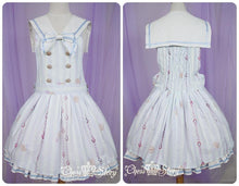 Load image into Gallery viewer, 【La robe de Cinderella】Removable Knotbow Stripes Strap Dress SP140597 - SpreePicky  - 2