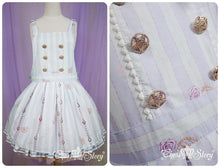 Load image into Gallery viewer, 【La robe de Cinderella】Removable Knotbow Stripes Strap Dress SP140597 - SpreePicky  - 4