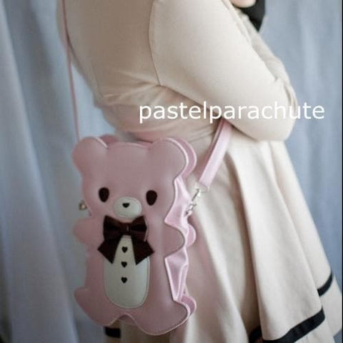 Lolita Teddy Bear Backpack/Crossbody Bag/Shoulder Bag 3 Ways Of Using  SP140640 - SpreePicky  - 2