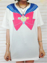 Load image into Gallery viewer, Harajuku Sailor Moon Manga Version Bow T-shirt Top SP140646 - SpreePicky  - 3