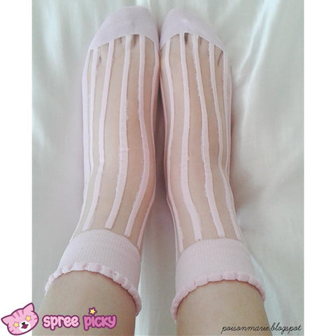 [3 For 2] 4 Colors Lolita Ankle Silk Socks SP140690 - SpreePicky  - 4