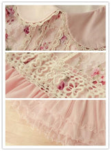 Load image into Gallery viewer, Doll Collar Lace Grenadine Floral High-Waisted Half Sleeve Dress SP140719 - SpreePicky  - 4