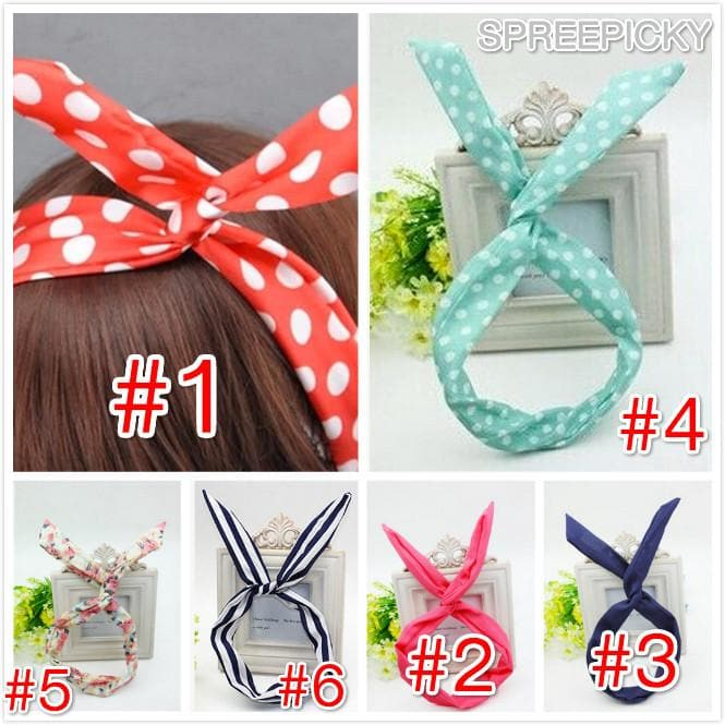6 Colors Bunny Ear Hair Band SP141474 - SpreePicky  - 1