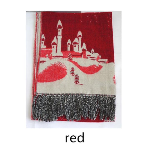 UNISEX! Happy Winter! Christmas Snowflake Wool Spinning Shawl Scarf SP141512 - SpreePicky  - 4