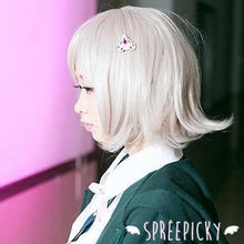 Load image into Gallery viewer, Cosplay Super Dangan Ronpa Chiaki Nanami Silver Grey Short Wig SP141556 - SpreePicky  - 3