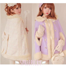 Load image into Gallery viewer, Noble Fur Princess Woolen Cape Coat SP141561 - SpreePicky  - 2