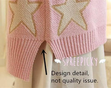 Load image into Gallery viewer, [3 Colors] Pastel Candy Color Stars Patterns Knitting Sweater Jumper Top  SP141587 - SpreePicky  - 4