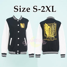 Load image into Gallery viewer, Attack On Titan The Survey Corps Wing of Liberty Black Jacket SP141594 - SpreePicky  - 2