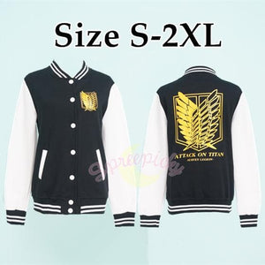 Attack On Titan The Survey Corps Wing of Liberty Black Jacket SP141594 - SpreePicky  - 2