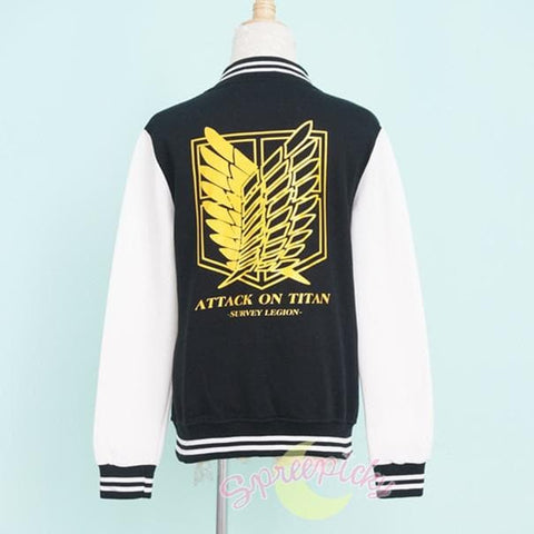 Attack On Titan The Survey Corps Wing of Liberty Black Jacket SP141594 - SpreePicky  - 4