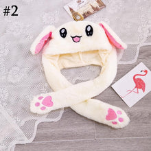 Load image into Gallery viewer, Kawaii Shiny Jiggling Plush Bunny Ear LED Hat SP14246