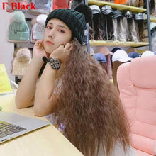 Load image into Gallery viewer, Colorful Knitting Hat With Removable Long Curly Wig 1 SP14770 - SpreePicky FreeShipping