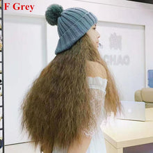 Load image into Gallery viewer, Colorful Knitting Hat With Removable Long Curly Wig 5 SP14770