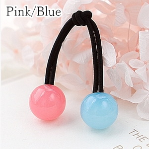 [12 Colors] Candy Colors Jelly Balls Hair Ring 2 Pieces SP151665 - SpreePicky  - 7