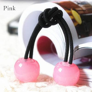 [12 Colors] Candy Colors Jelly Balls Hair Ring 2 Pieces SP151665 - SpreePicky  - 8