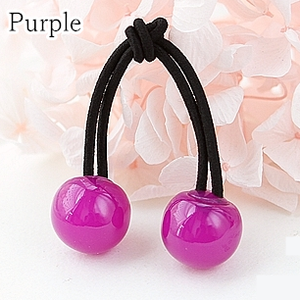 [12 Colors] Candy Colors Jelly Balls Hair Ring 2 Pieces SP151665 - SpreePicky  - 9
